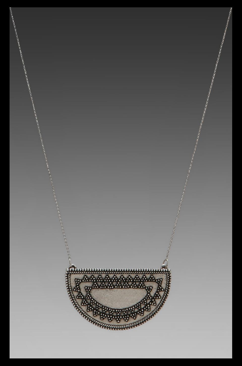 House of Harlow 1960 House of Harlow Tuareg Granulation Necklace in Antique Silver