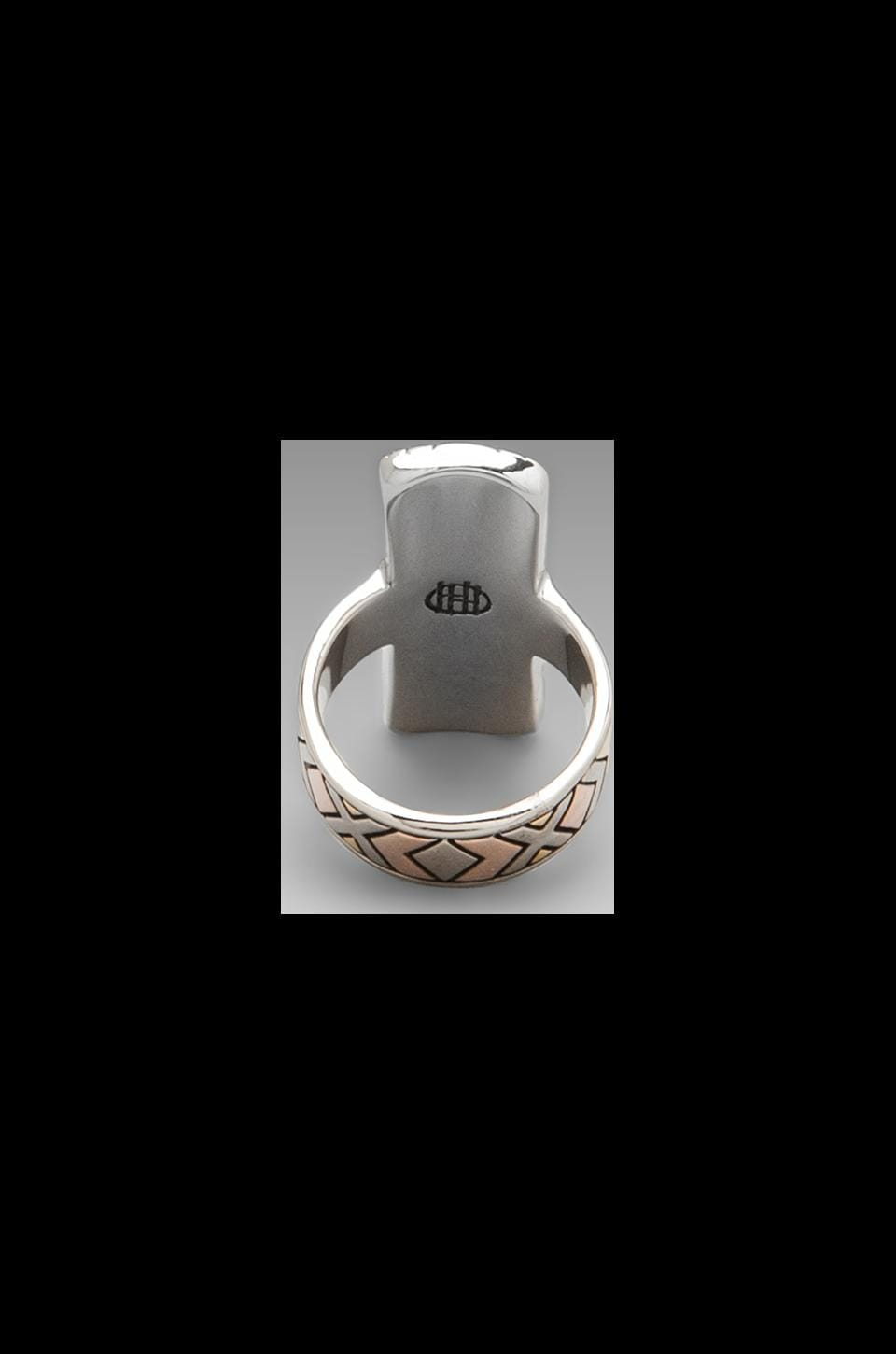 House of Harlow Sancai Ring in Tri-tone