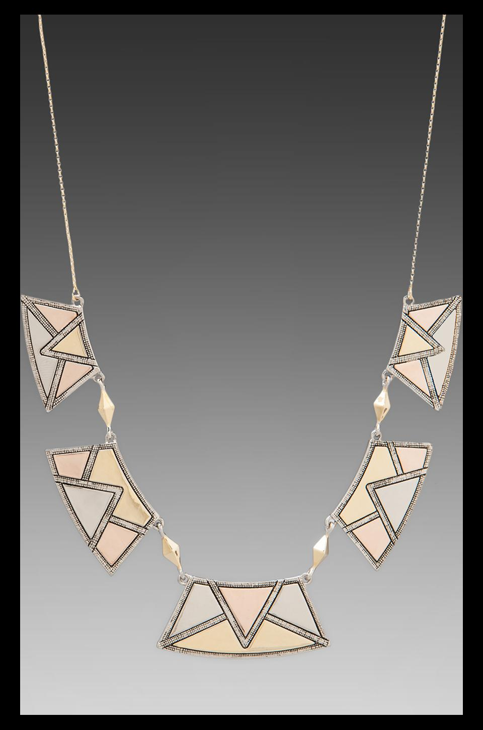 House of Harlow 1960 House of Harlow Sancai Collar Necklace in Tri-tone