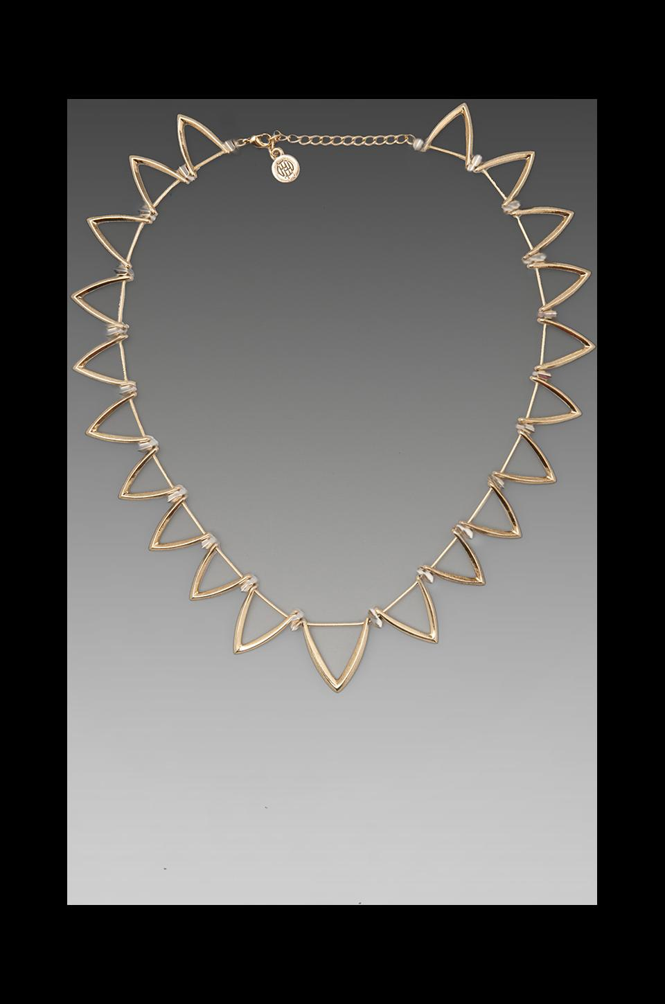House of Harlow 1960 House of Harlow Trikona Necklace in Gold
