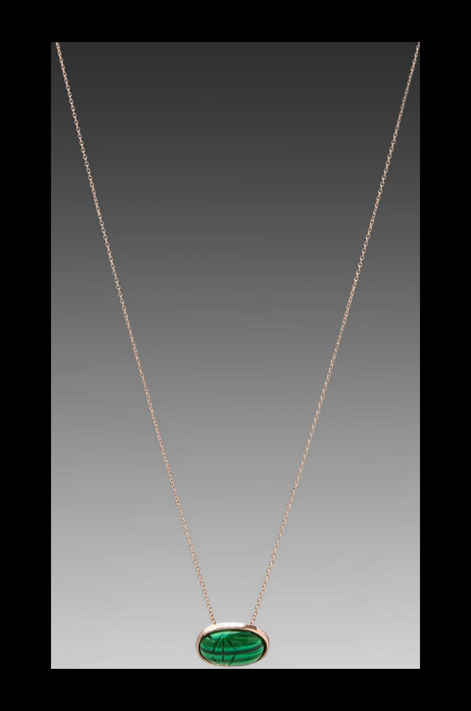 House of Harlow Scared Scarab Pendant Necklace in Rosegold