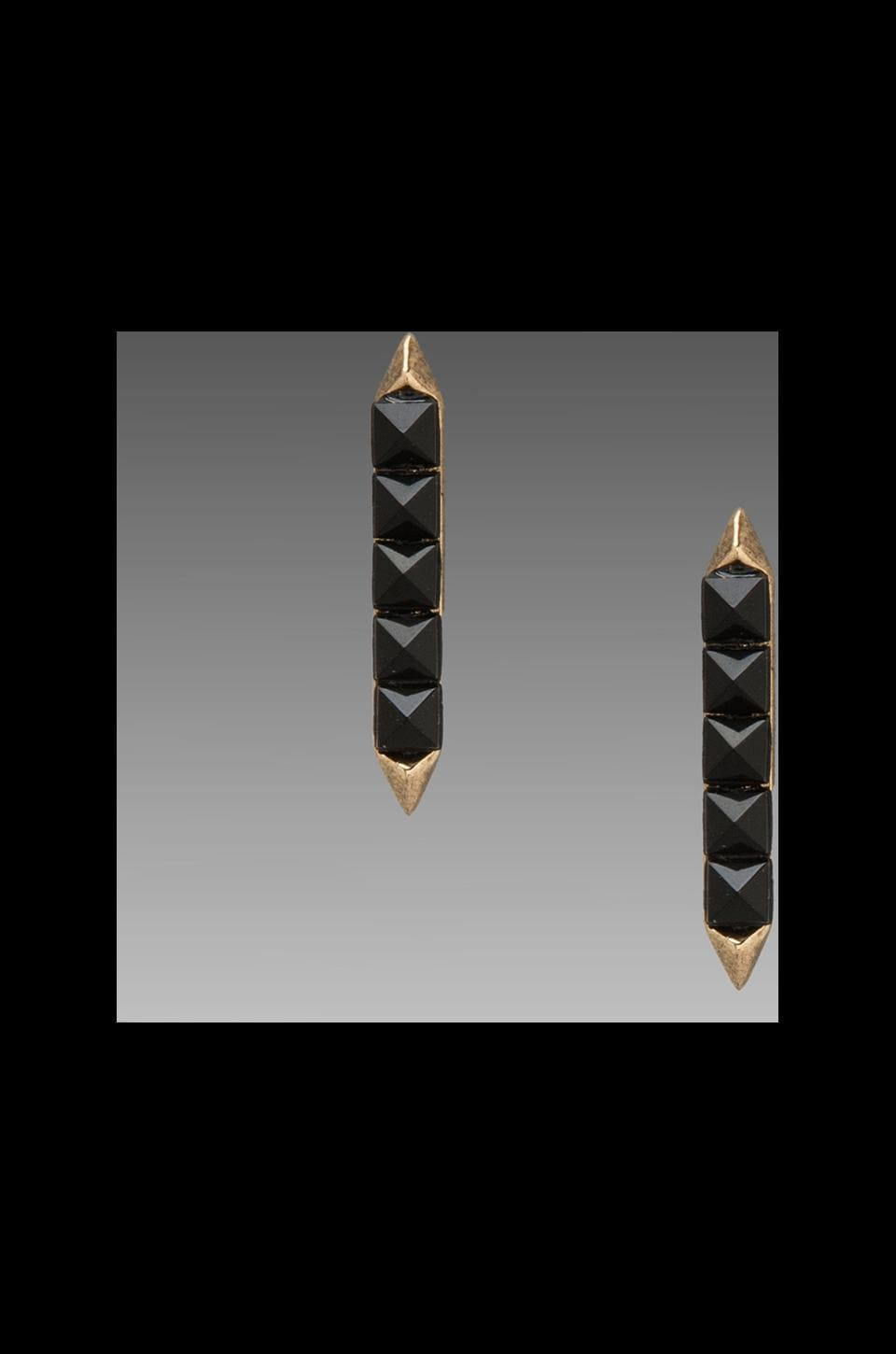 House of Harlow 1960 House of Harlow Seer's Earrings in Gold/Black