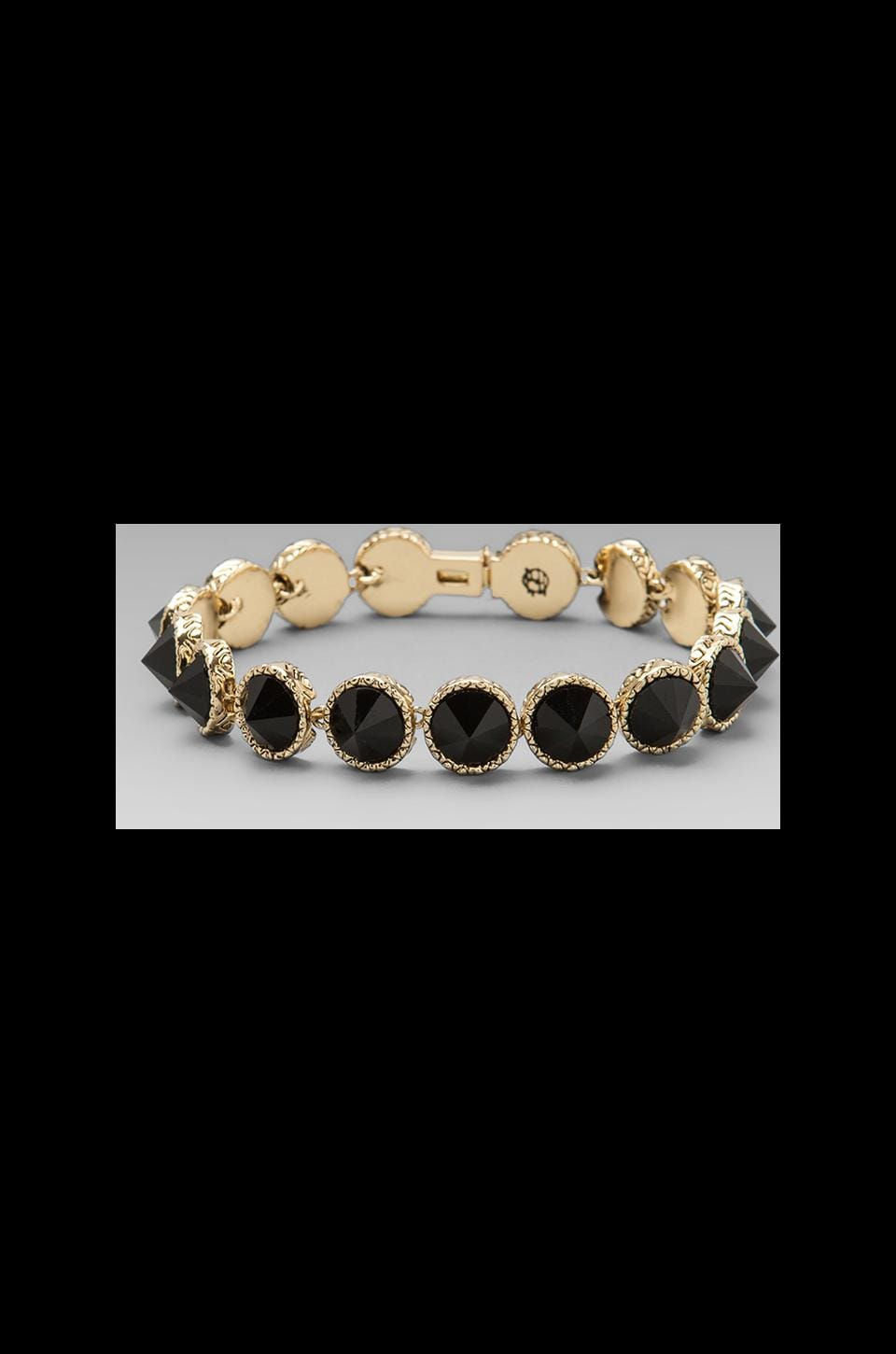 House of Harlow Black is the New Tennis Bracelet in Gold/Black