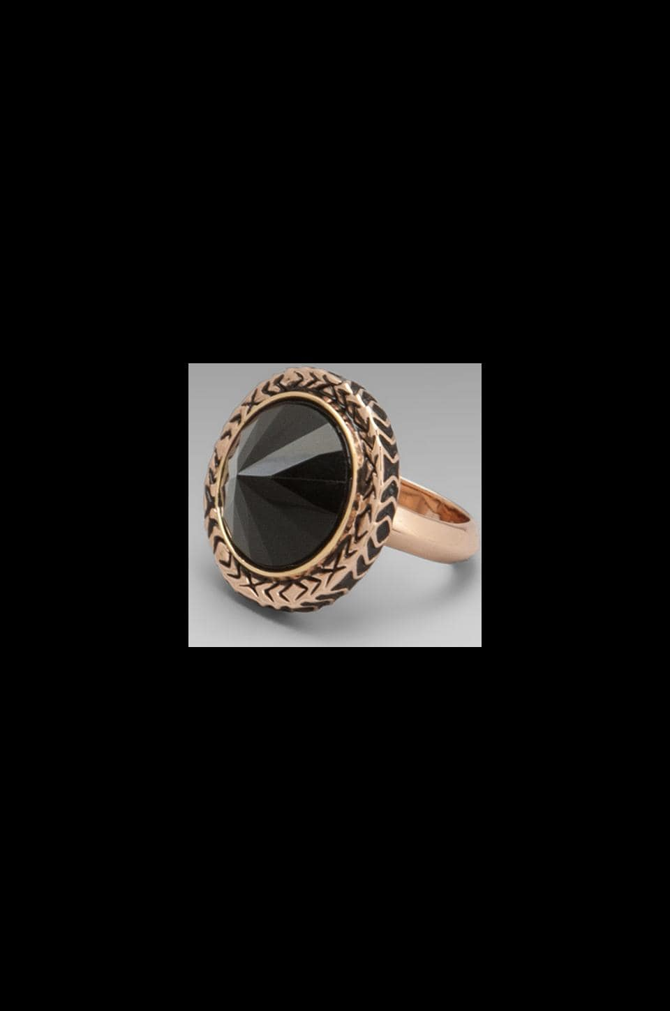 House of Harlow Scry Stone Ring in Rosegold