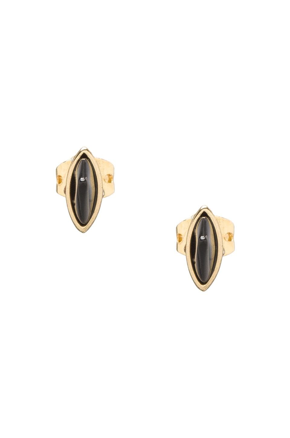 House of Harlow 1960 House of Harlow Rock Out Studs in Gold/Black Onyx