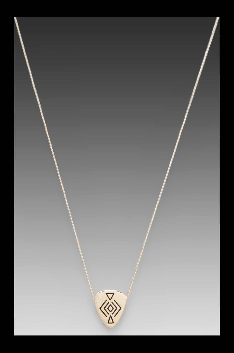 House of Harlow Mini Plectra Necklace in Gold