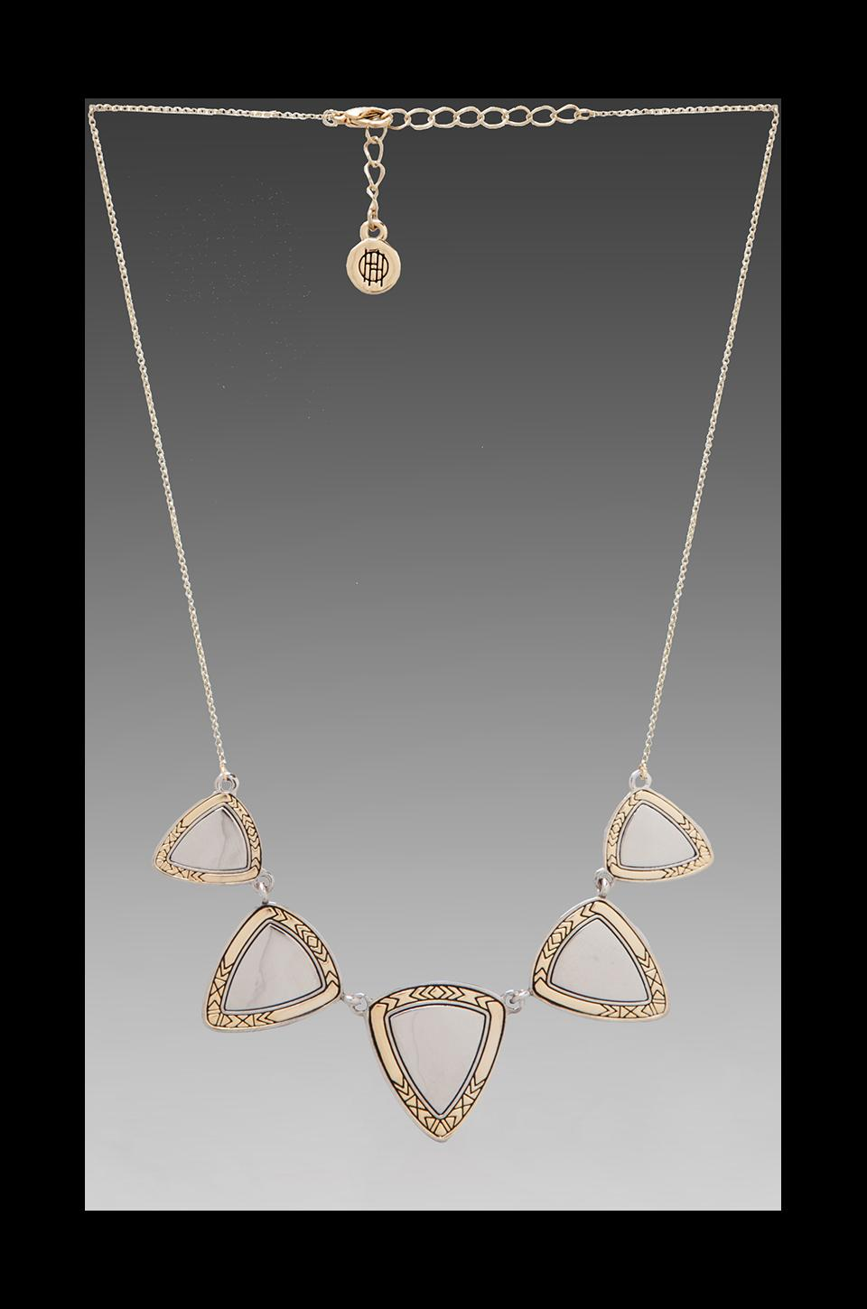 House of Harlow Metallic Flatpick Necklace in Gold
