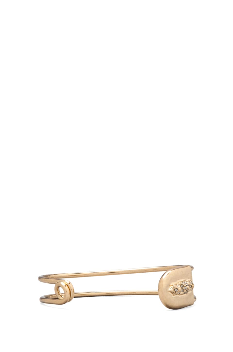 House of Harlow Pave Pyramid Safety Pin Cuff in Gold