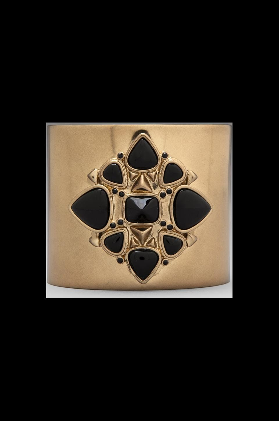 House of Harlow Kaleidoscope Cuff in Gold/Black