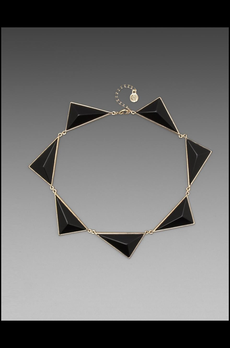 House of Harlow 1960 House of Harlow Pyramid Collar in Black Resin