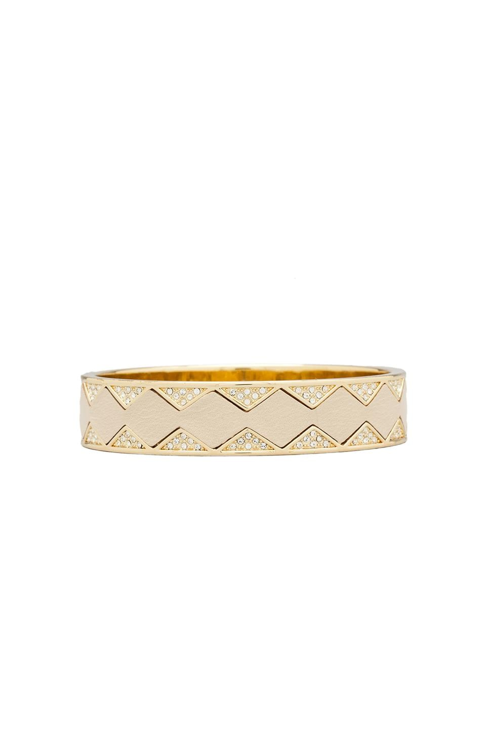 House of Harlow Sunburst Bangle in Gold Tone Cream