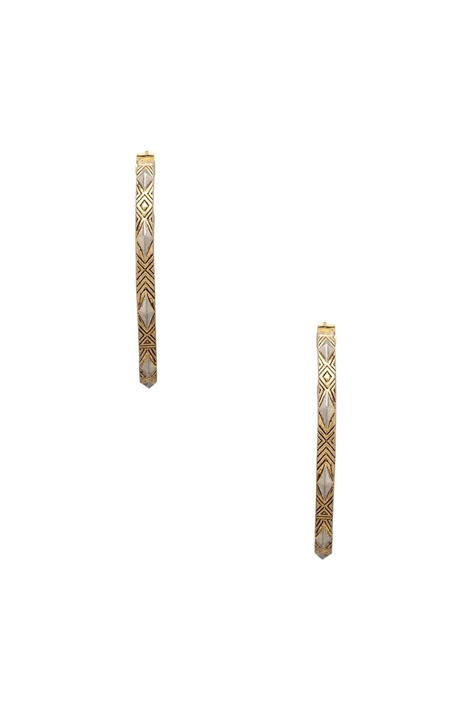 House of Harlow Marquis Stud Hoops in Gold