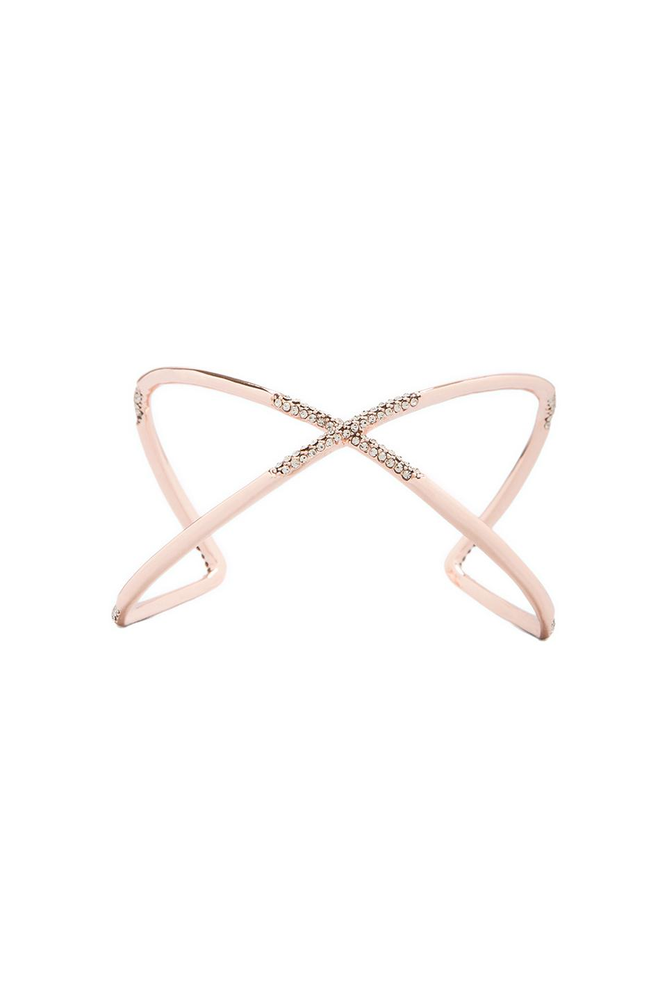 House of Harlow Sound Waves Cuff in Rose Gold