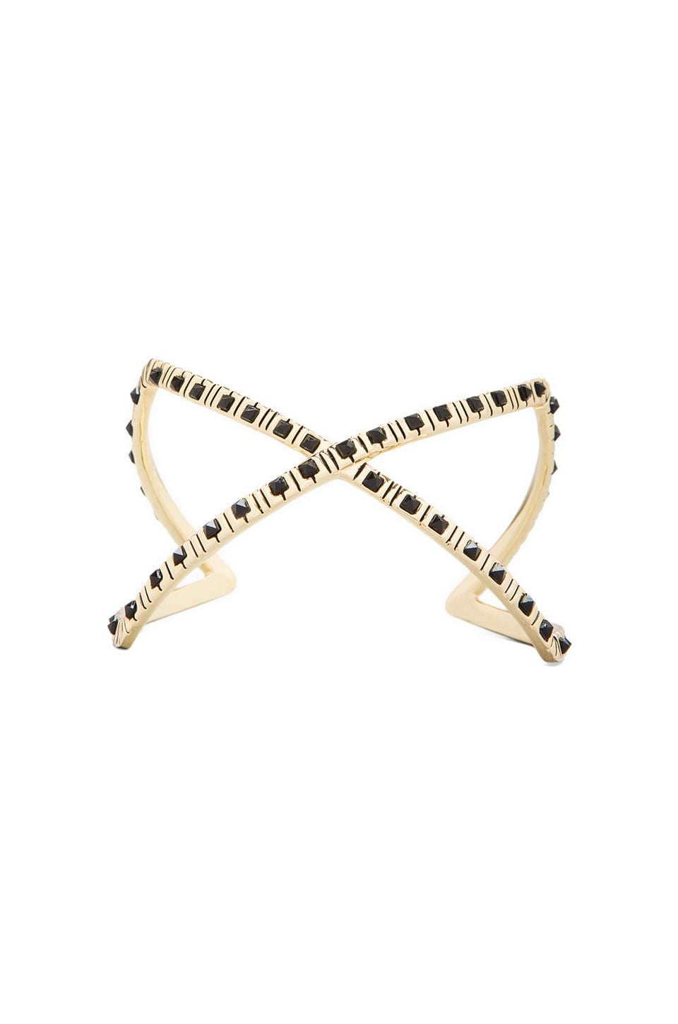 House of Harlow Keyboard Cuff in Gold