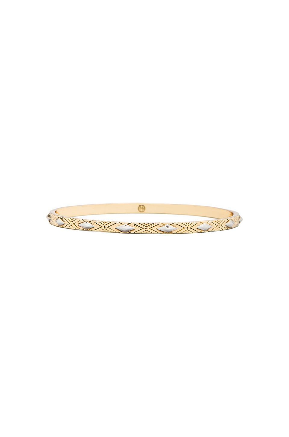 House of Harlow 1960 House of Harlow Marquis Stack Bangles in Gold