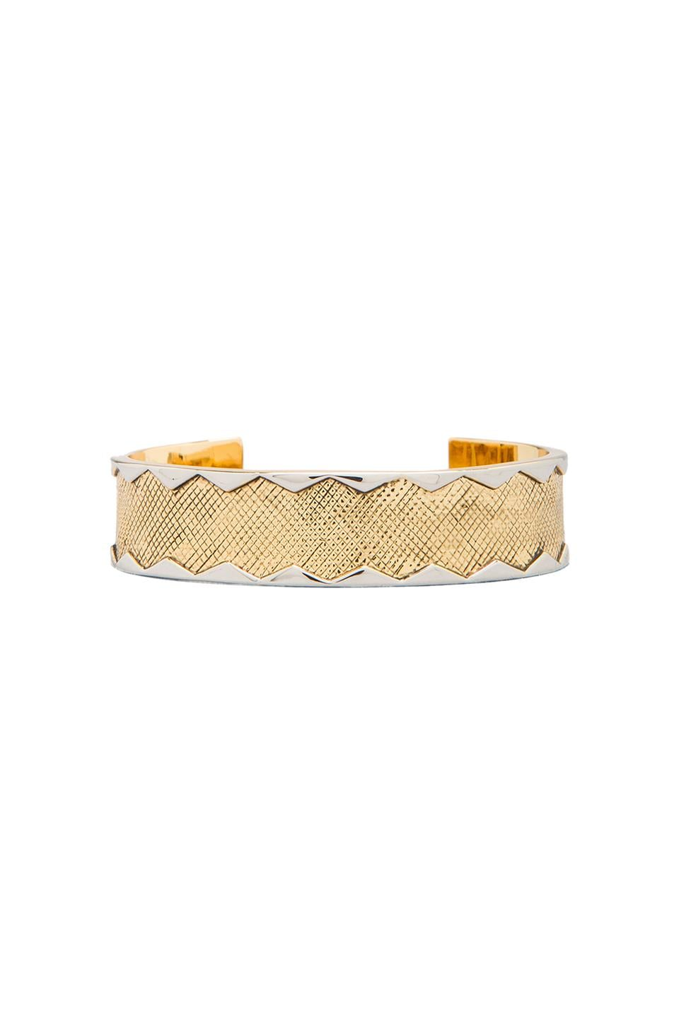 House of Harlow Wavelength Cuff in Gold