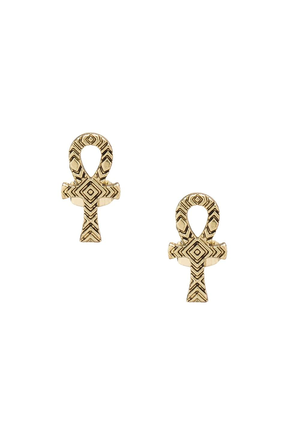 House of Harlow 1960 House of Harlow Knot of Isis Studs in Gold