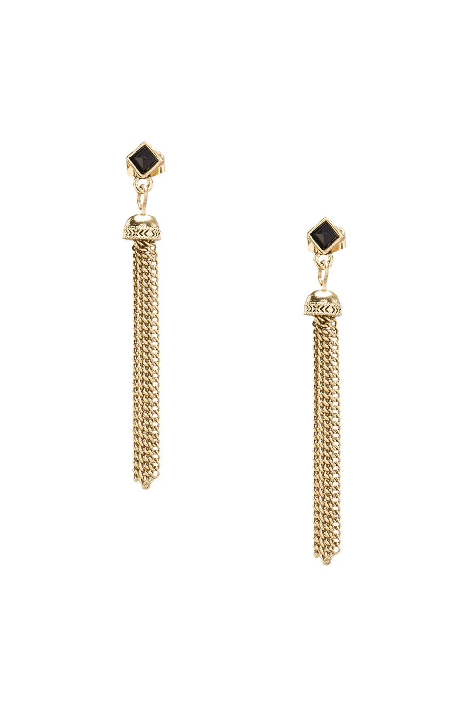 House of Harlow Chainette Earrings in Gold