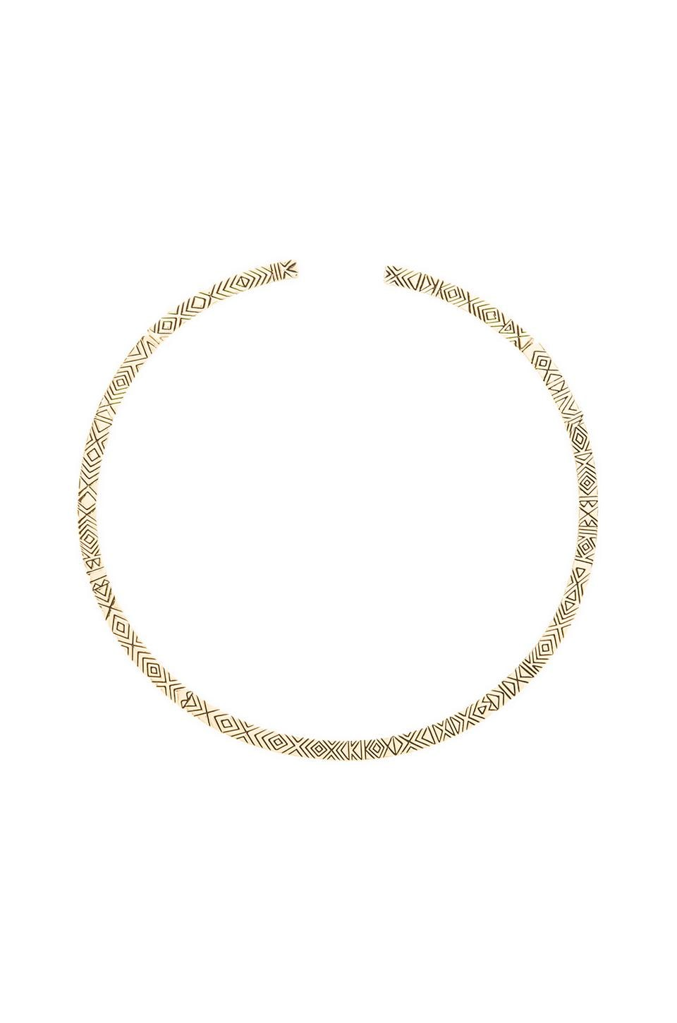 House of Harlow Isis Engraved Collar in Gold