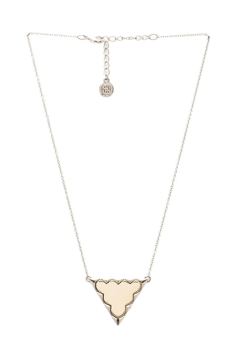 House of Harlow 1960 House of Harlow Classic Reversible Triangle Pendant in Gold