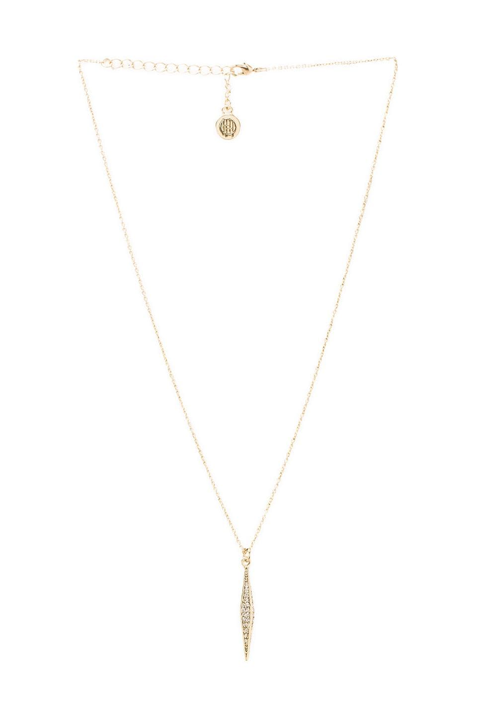 House of Harlow Sparkling Marquis Pendant Necklace in Gold