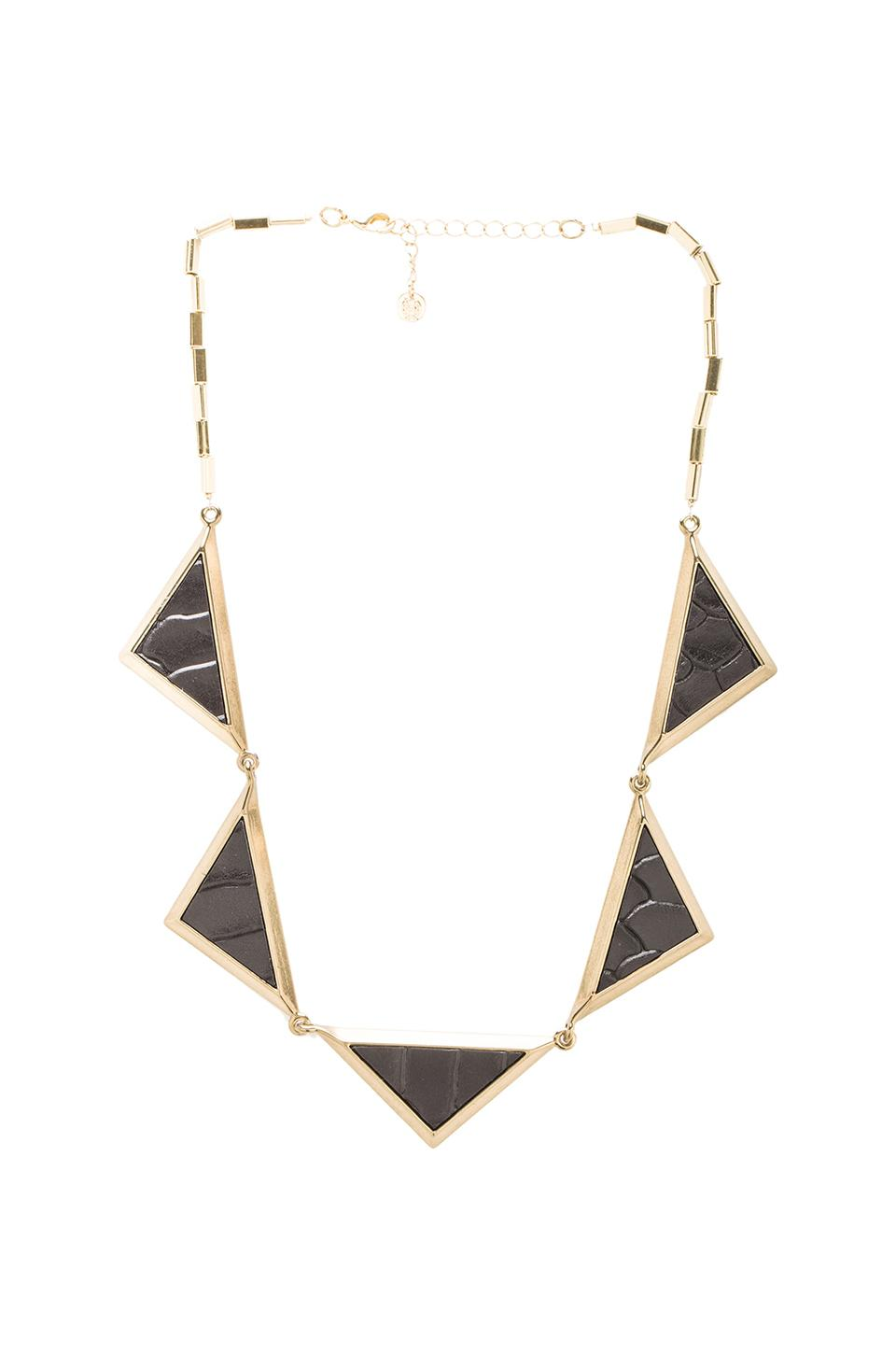 House of Harlow 1960 House of Harlow Triptych Collar in Gold