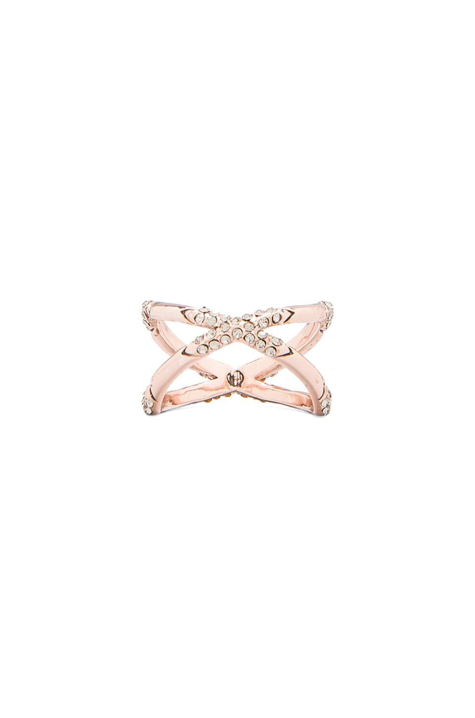 House of Harlow 1960 House of Harlow Sound Waves Ring in Rose Gold