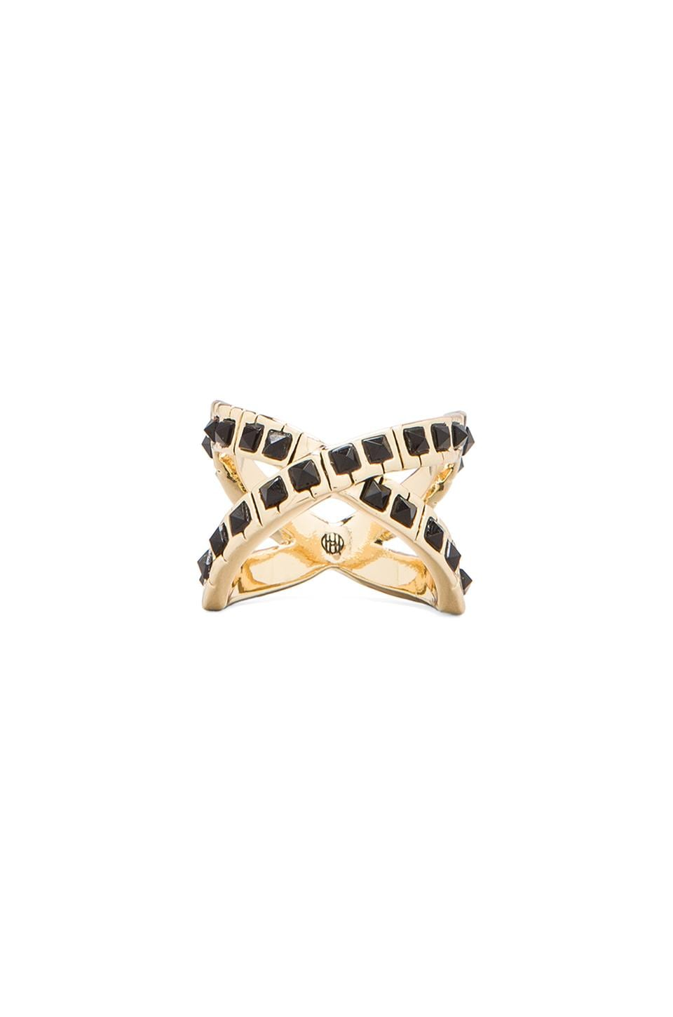House of Harlow Keyboard Wrap Ring in Gold