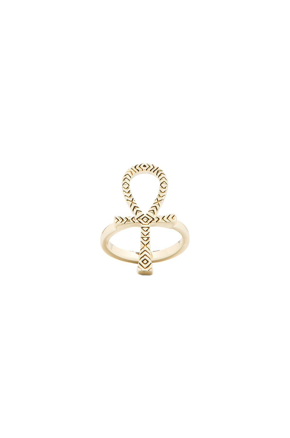 House of Harlow 1960 House of Harlow Knot of Isis Ring in Gold