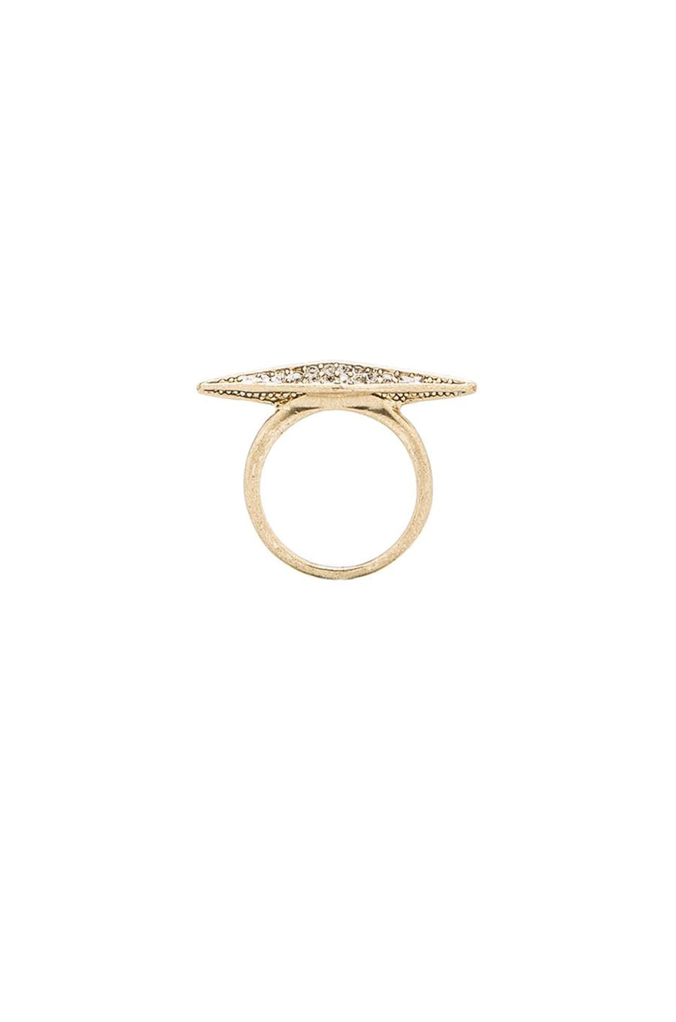 House of Harlow 1960 House of Harlow Sparkling Marquis Ring in Gold
