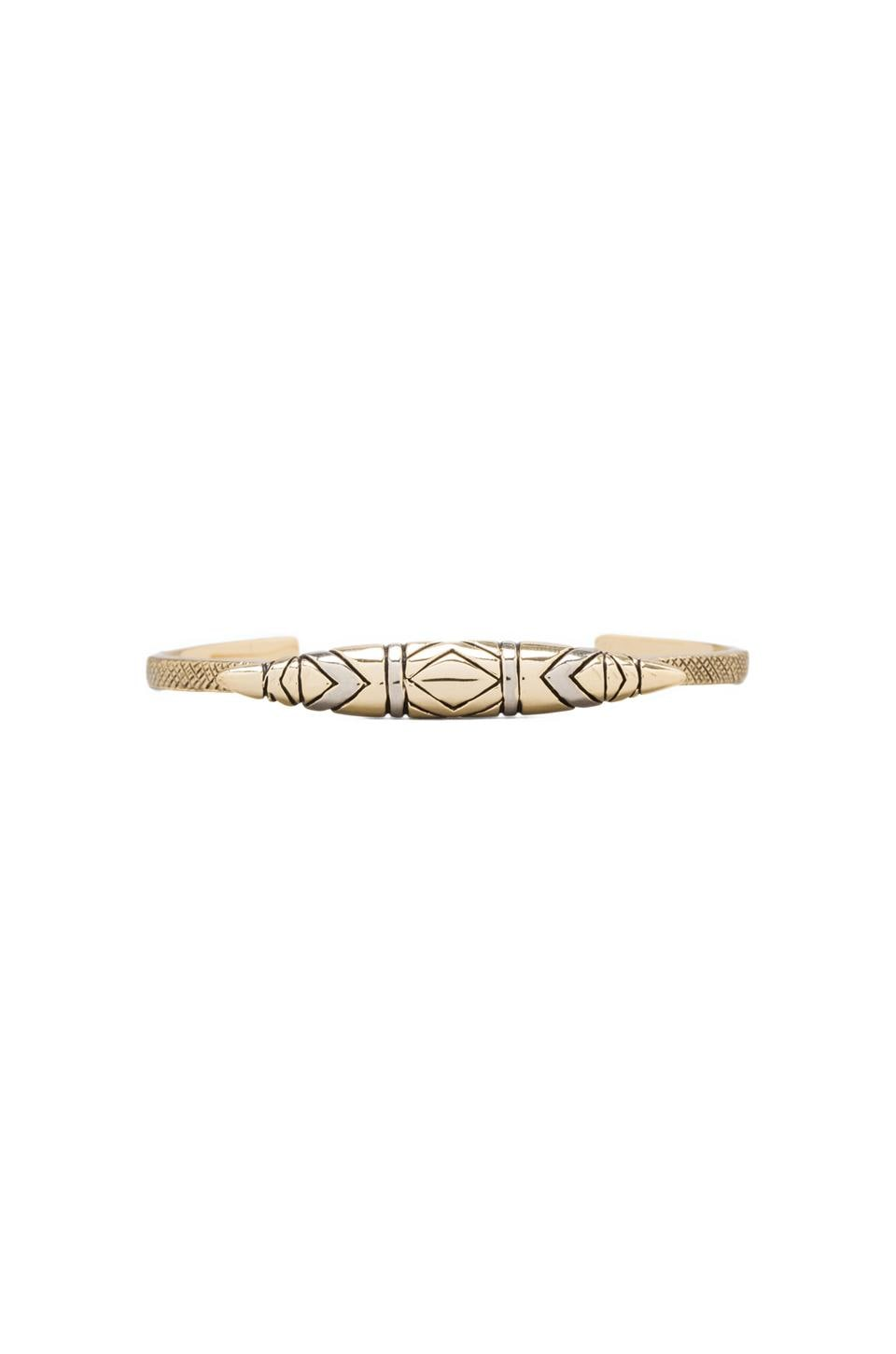 House of Harlow Tribal Totem Cuff in Two Tone