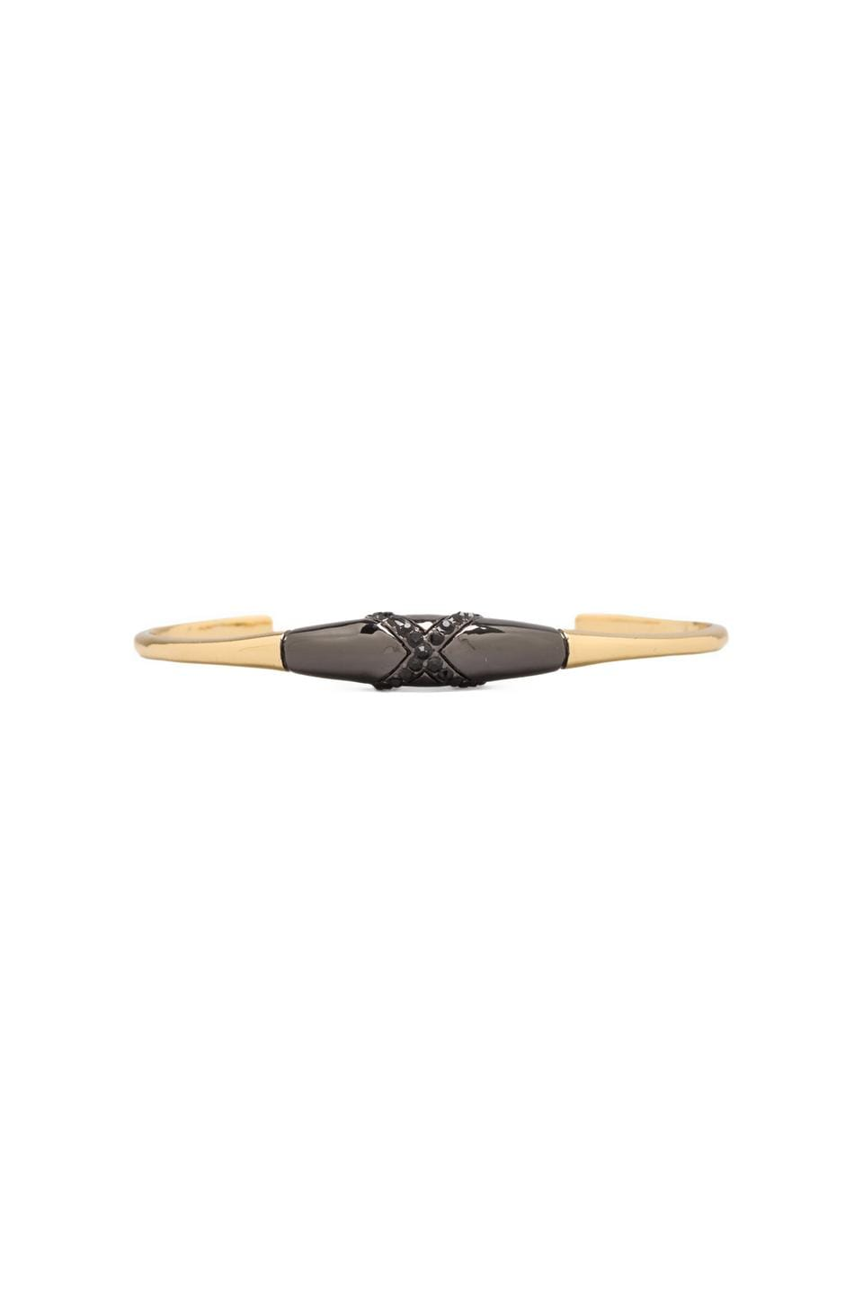 House of Harlow 1960 House of Harlow Obsidian Feather Cuff in Two Tone