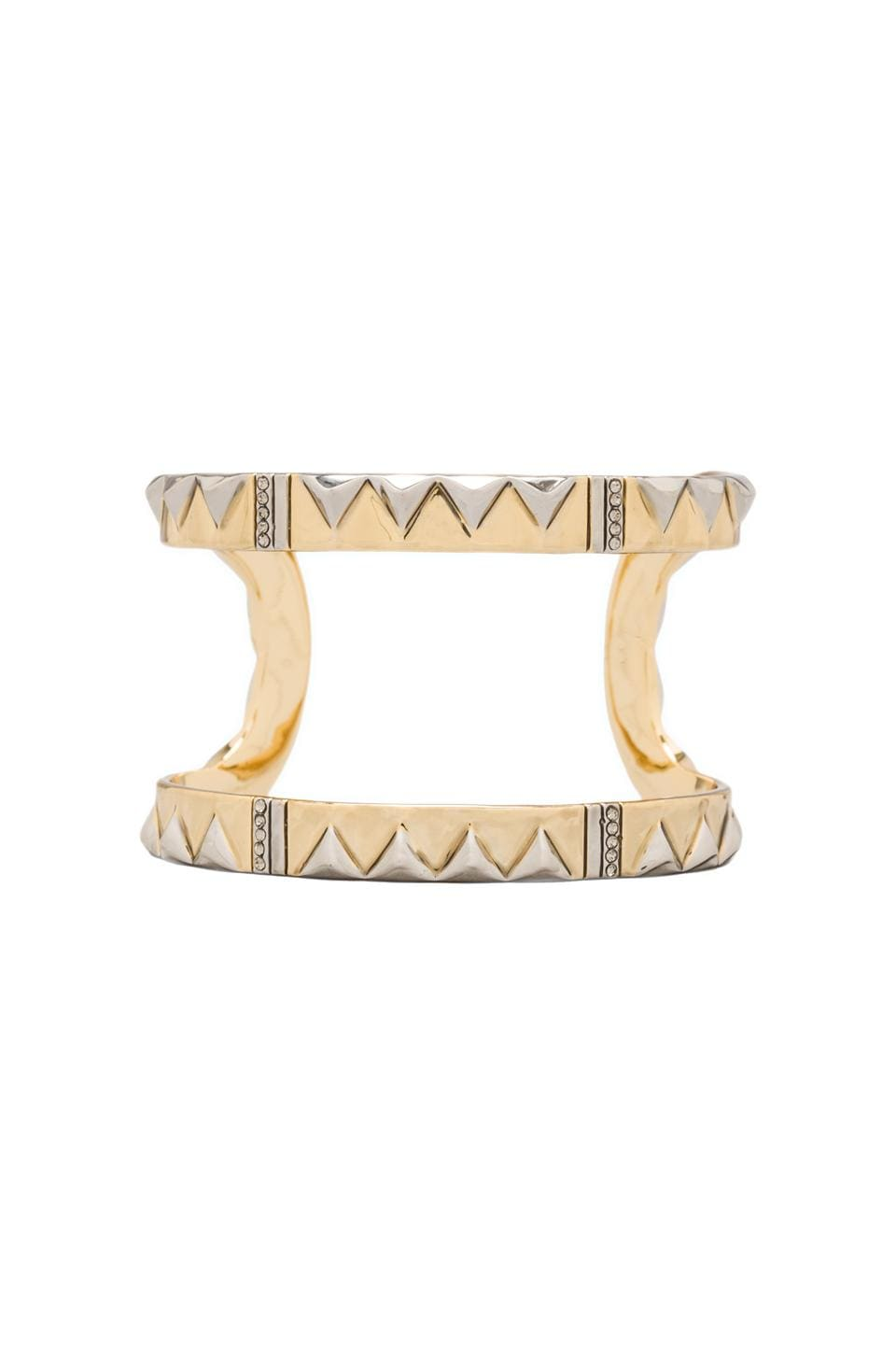 House of Harlow 1960 House of Harlow Cusco Crescent Cuff in Two Tone