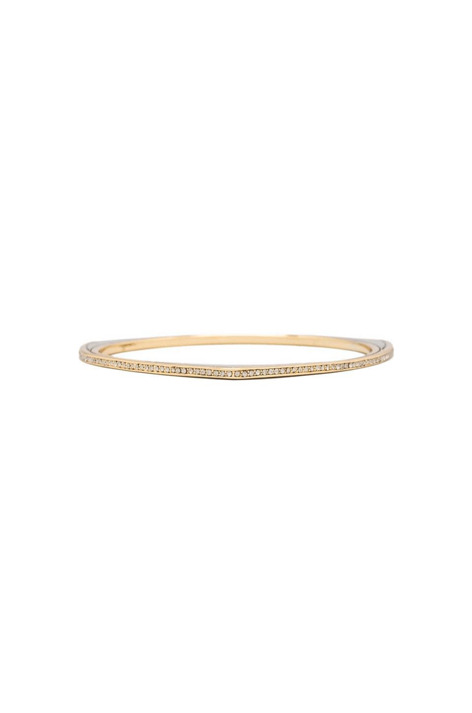 House of Harlow Modern Tribal Pave Bangle in Two Tone
