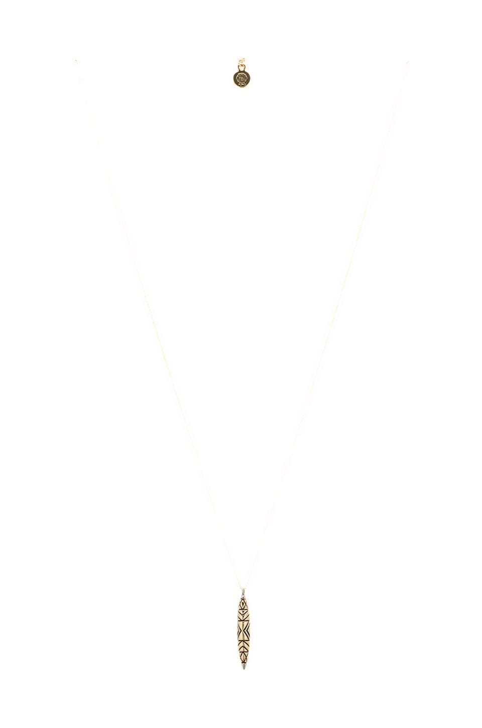 House of Harlow Tribal Totem Pendant Necklace in Two Tone