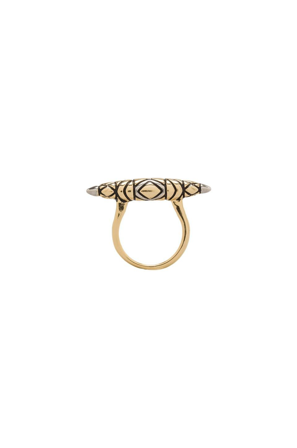 House of Harlow 1960 House of Harlow Tribal Totem Ring in Two Tone