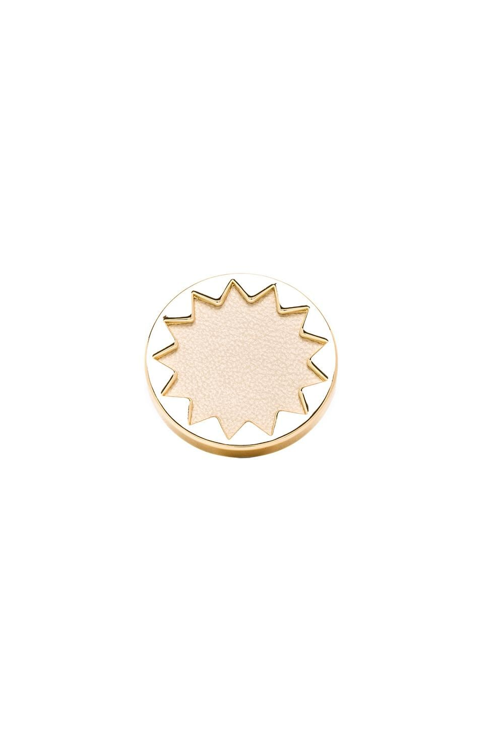 House of Harlow 1960 House of Harlow Mini Sunburst Ring in Gold Tone Cream