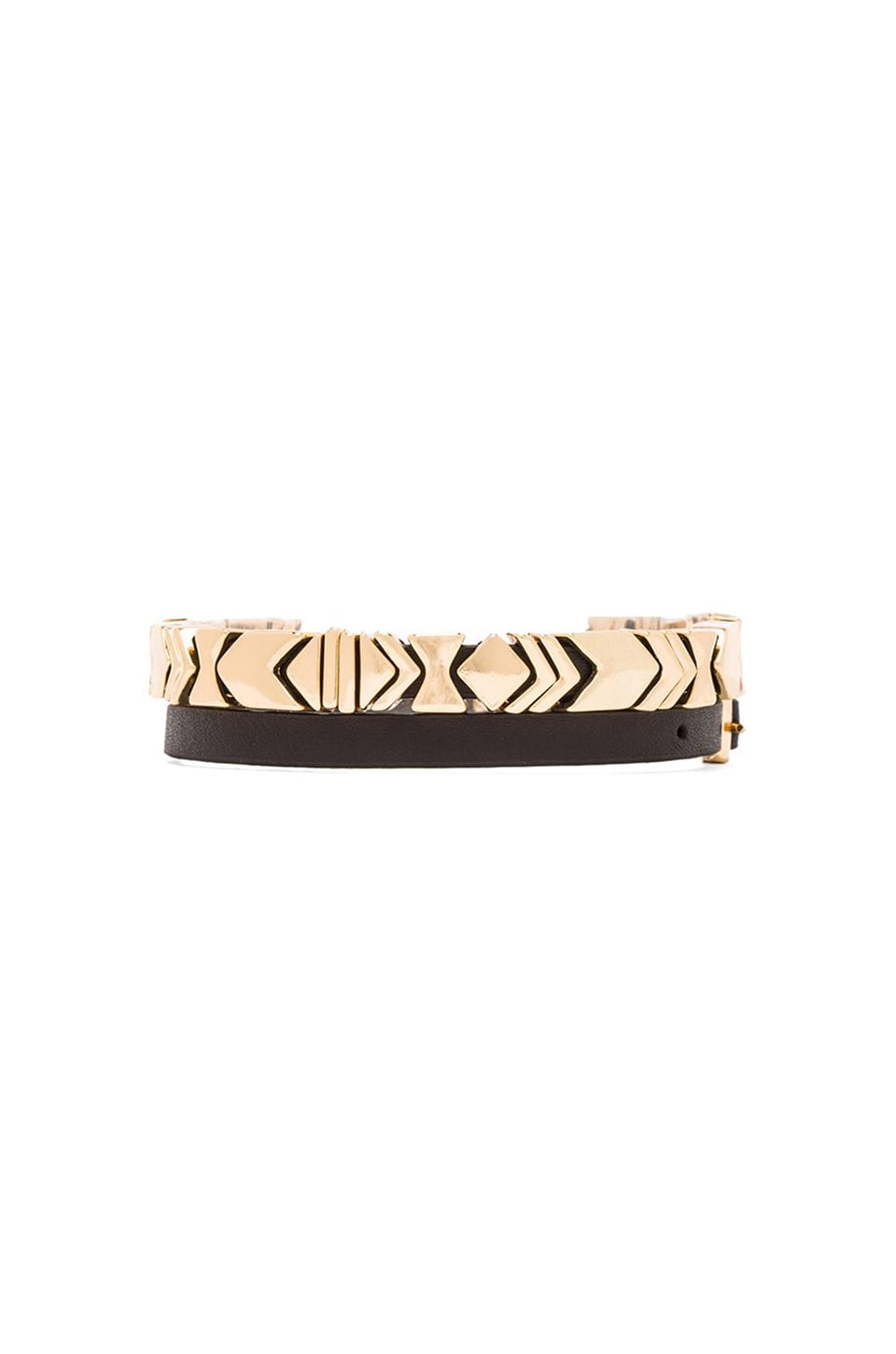 House of Harlow 1960 House of Harlow Aztec Wrap Bracelet in Gold/Black