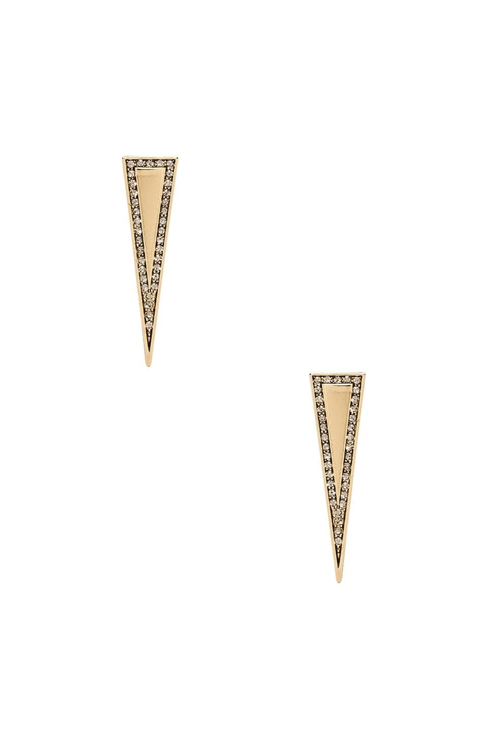 House of Harlow 1960 House of Harlow Athena's Shield Earrings in Gold