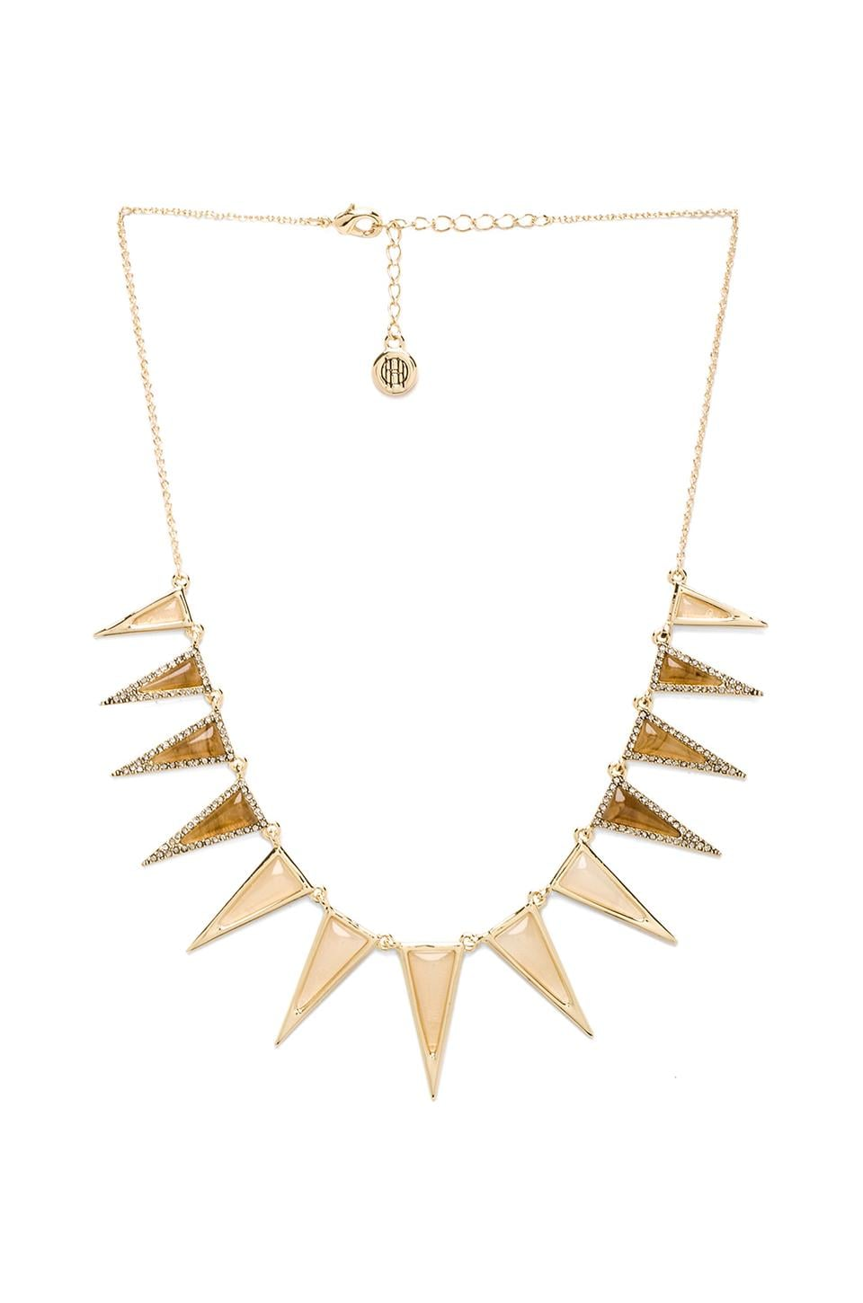 House of Harlow Echelon Collar Necklace in Gold