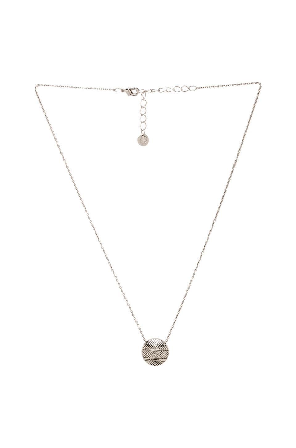 House of Harlow Tholos Mosaic Necklace in Silver