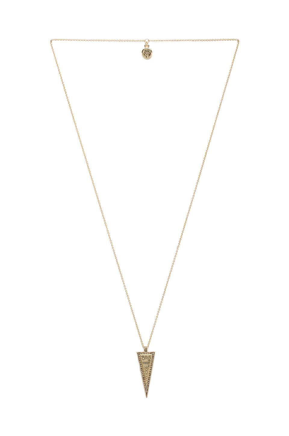 House of Harlow 1960 House of Harlow Sparkling Periphery Necklace in Gold
