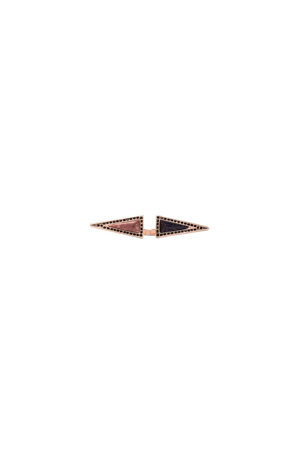 House of Harlow 1960 House of Harlow Isosceles Reflection Ring in Rose Gold