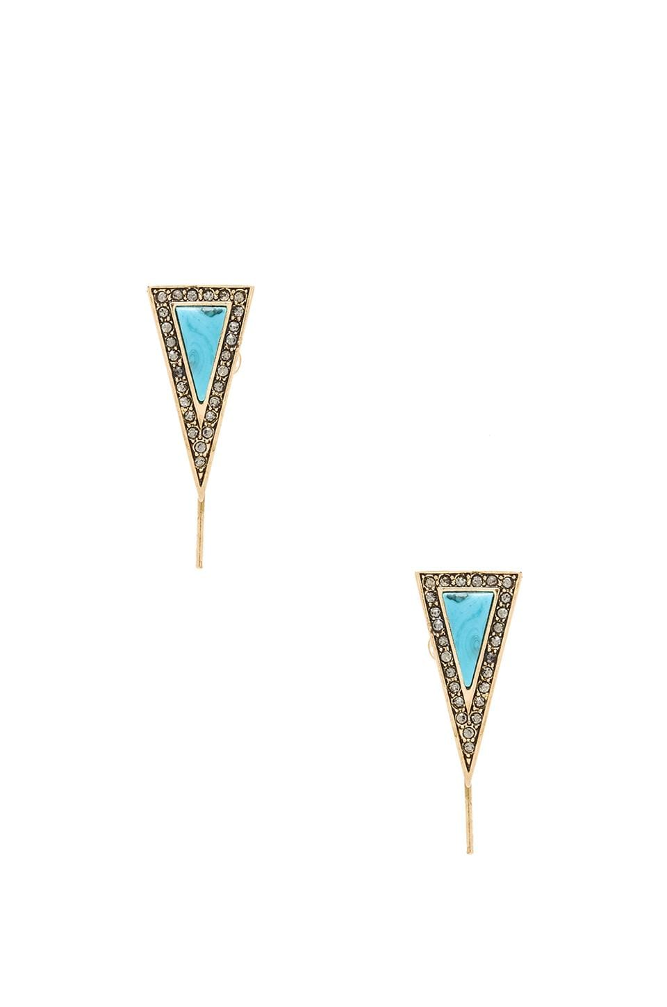 House of Harlow 1960 House of Harlow Acute Earrings in Turquoise