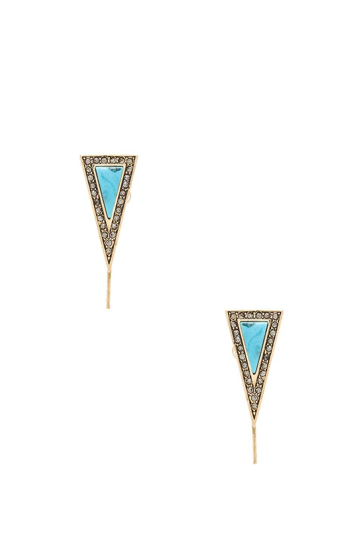 House of Harlow 1960 House of Harlow Acute Earrings in Turquoise