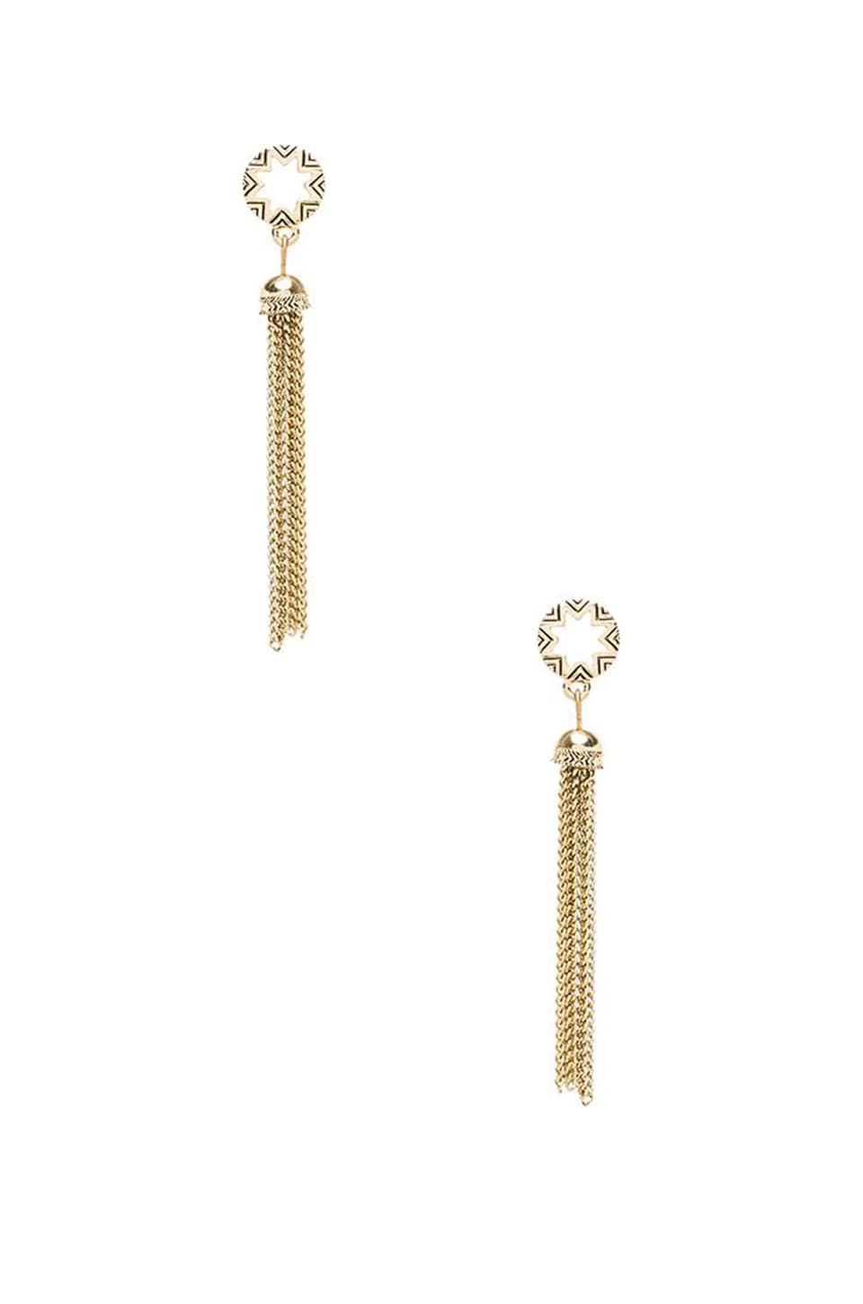 House of Harlow 1960 House of Harlow Sunburst Tassel Earrings in White