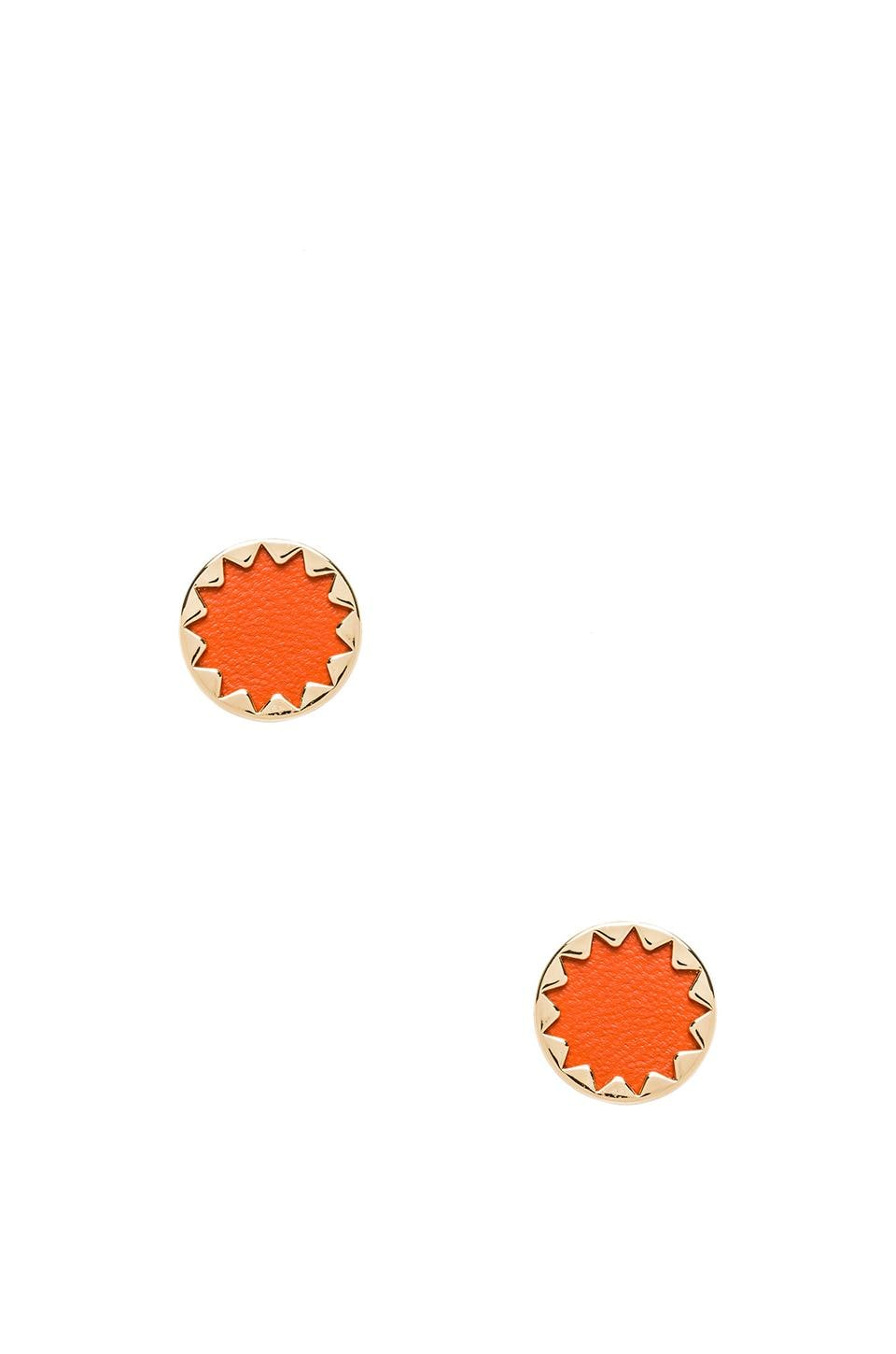 House of Harlow 1960 House of Harlow Sunburst Button Earrings in Coral