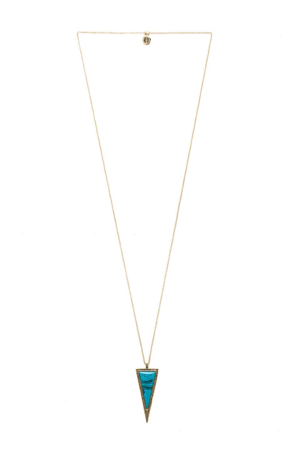 House of Harlow Delta Pendant Necklace in Turquoise