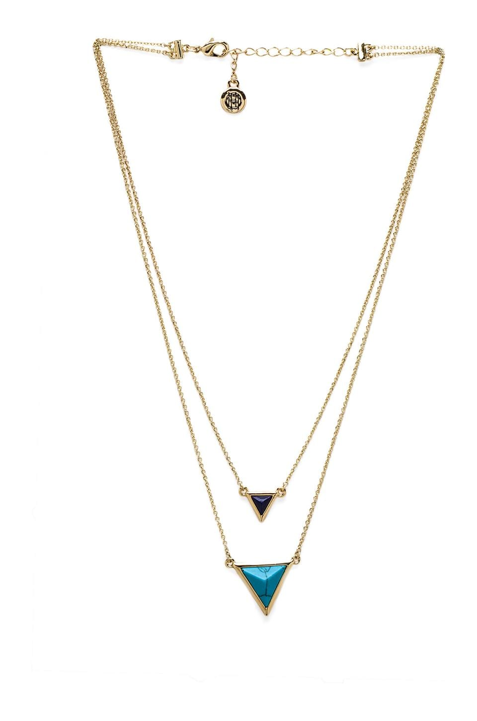 House of Harlow 1960 House of Harlow The Temple Necklace in Gold/Turquoise