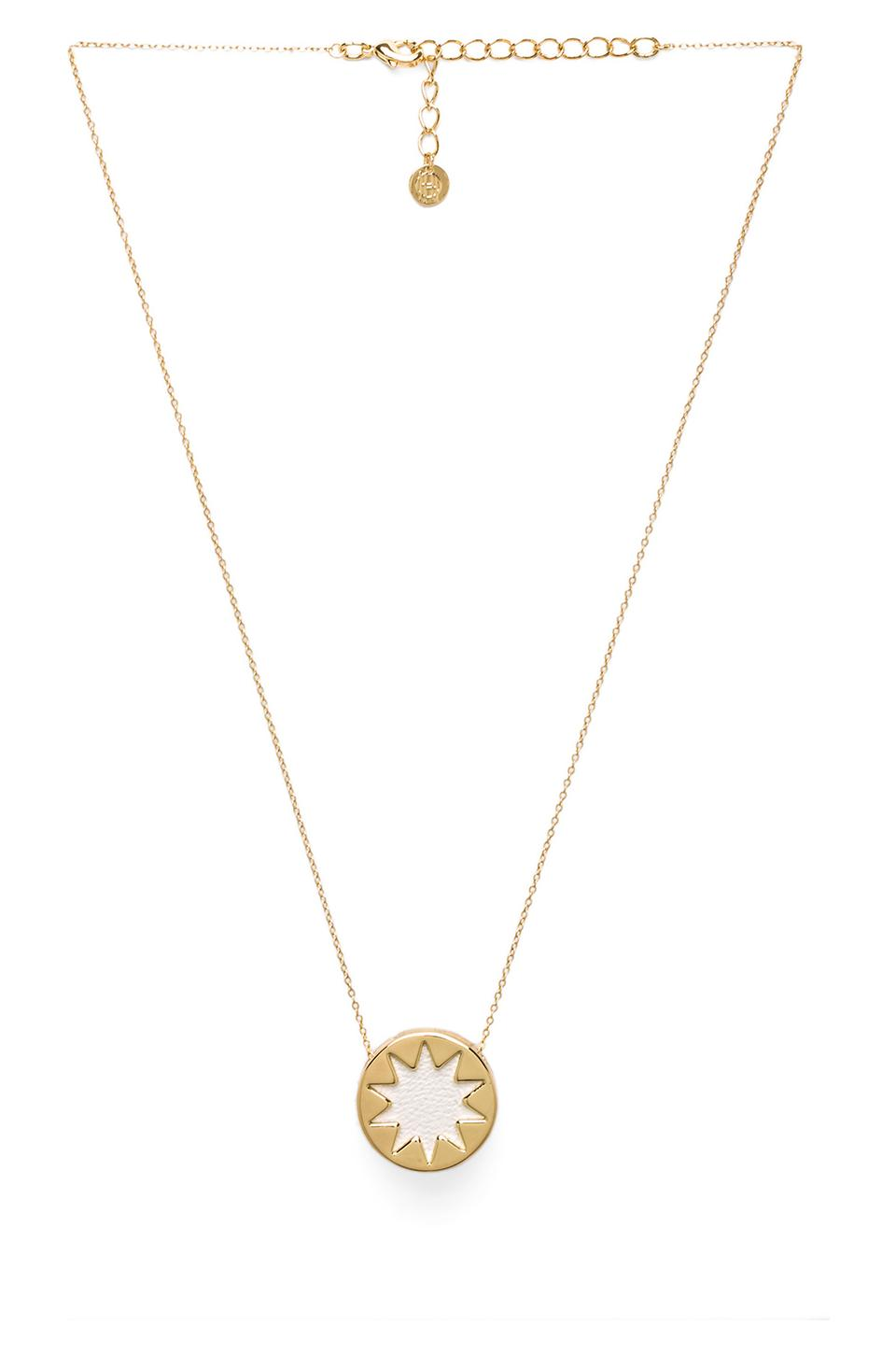 House of Harlow 1960 House of Harlow Mini Sunburst Pendant Necklace in White